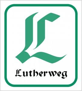 Lutherweg Logo und Wegmarkierung