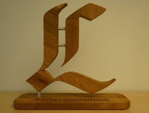 """Tischaufsteller Luther-Stammtisch """"L"""""""