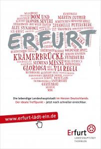 """""""Erfurt lädt ein!"""" Imagekampagne 2016"""
