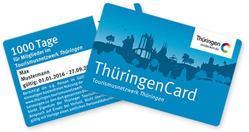 ThüringenCard Tourismusnetzwerk Thüringen