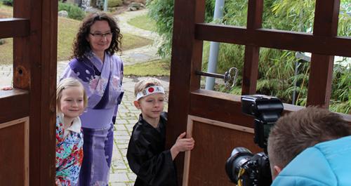 Sakura Amelie, Barbara Goldau und Samurai Paul eröffnen die Gartensaison 2017 in Bad Langensalza