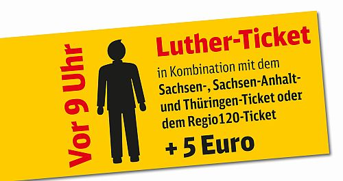 Plakat Luther-Ticket