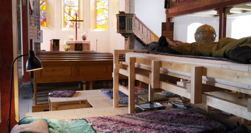 Übernachten in der Kirche