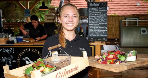 Servicemitarbeiterin der Bachstelze in Erfurt