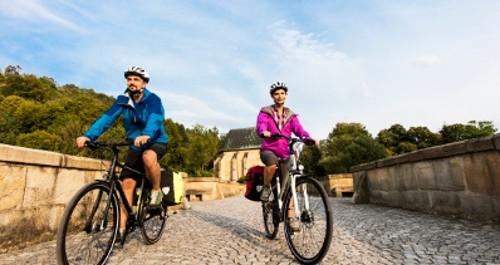 Radfahren auf dem Werratal-Radweg