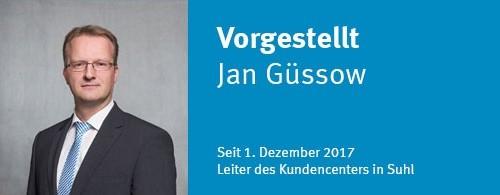 Jan Güssow neuer Leiter des Suhler TAB-Kundencenters