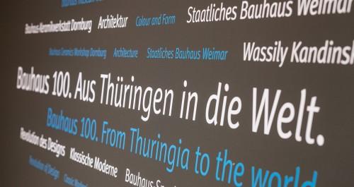 Wortwolke zum Thema Bauhaus am Thüringenstand auf der ITB
