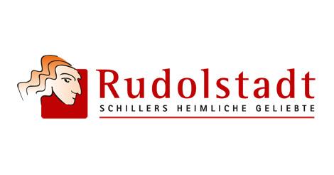 Logo Rote Schrift Rudolstadt, Schwarze Schrift Schillers heimliche Geliebte
