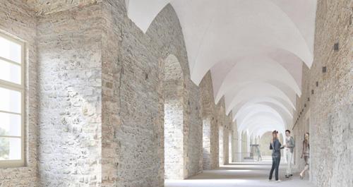 Entwurf der künftigen Innenperspektive der Passage im Ostflügel des Stadtschlosses Weimar