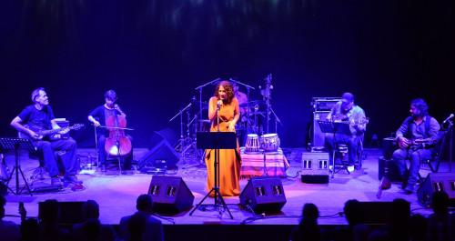 Achava-Festspiele Musikanten auf der Bühne