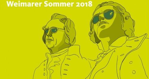 Siluette von Goethe und Schiller