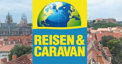 Logo der Messe vor der Siluette von Erfurt