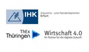 Logo IHK Erfurt und ThEx Wirtschaft 4.0