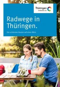 Radkarte Thüringen-Cover 2 Radfahrer bei der Rast