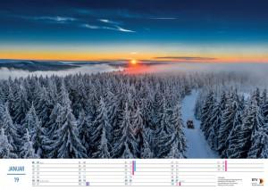 Masserberg im Winter mit Langlaufloipe