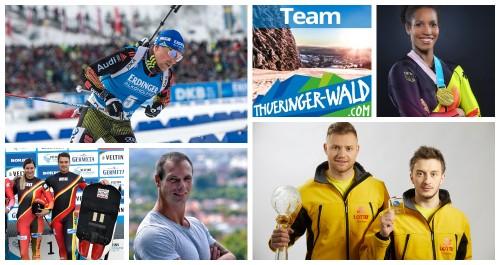 Sportler Thüringens mit Medaillen