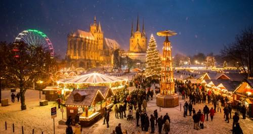 Der Schönste Weihnachtsmarkt.Erfurter Weihnachtsmarkt Als Schönster Europas Nominiert