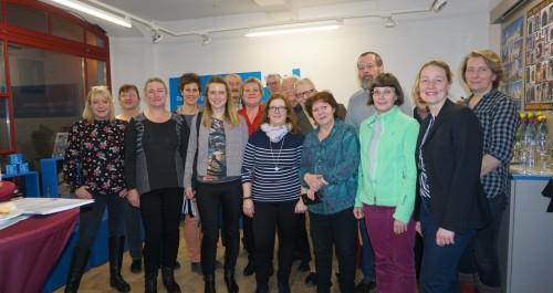 Gästeführer treffen sich in der Touristinformation Mühlhausen