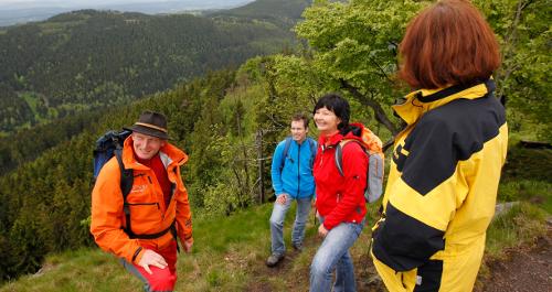 Wandergruppe im Thüringer Wald