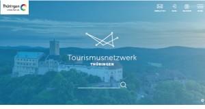 Screenshot Tourismusnetzwerk Thüringen mit Wartburg
