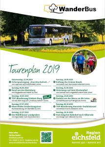 Termine der WanderBus Touren im Eichsfeld 2019