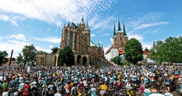 Präsentationen zur Deutschland Tour 2019 in Eisenach und Erfurt