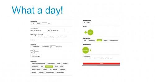 Filterfunktionen der App What a day!