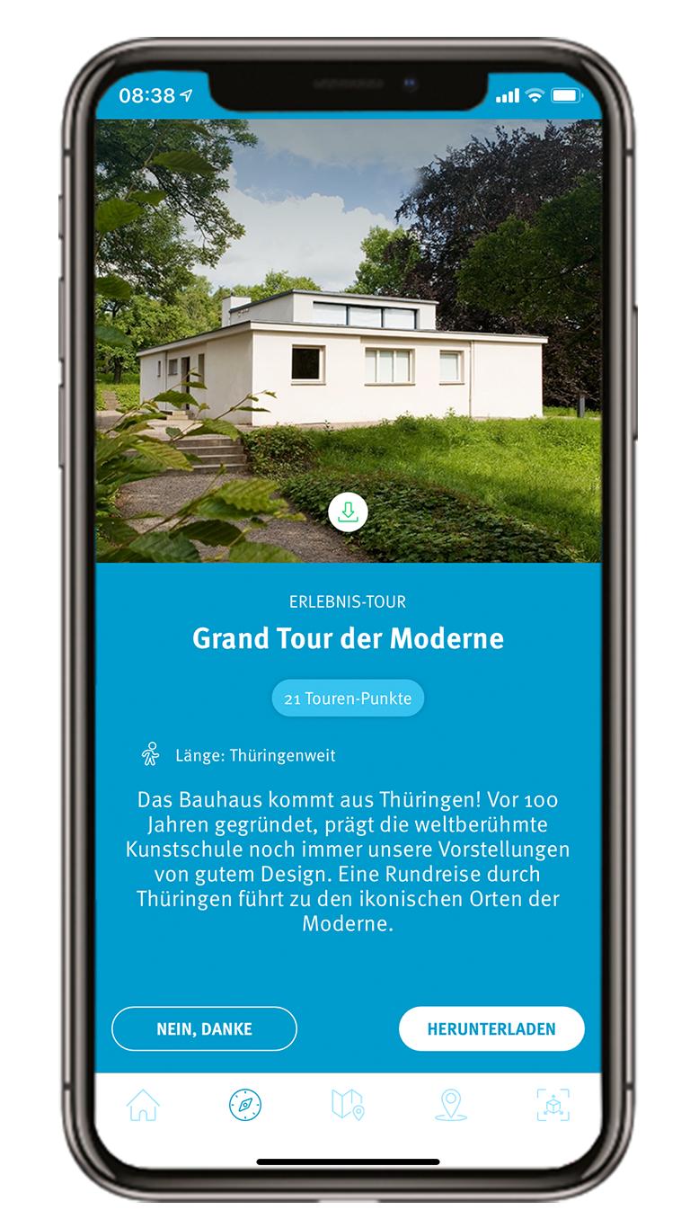 """Tourenauswahl der Erlebnistour """"Grand Tour der Moderne"""""""
