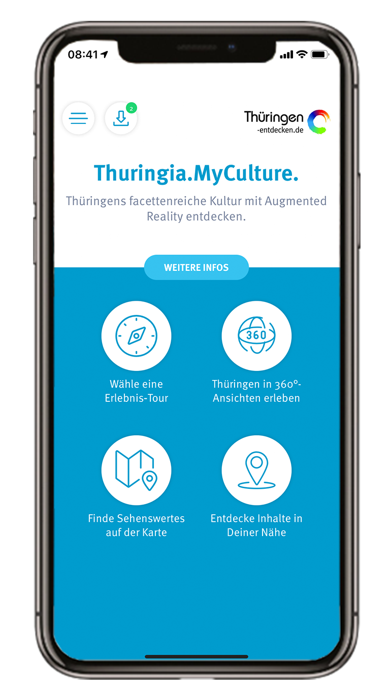 Staartscreen App Thuringia.MyCulture.