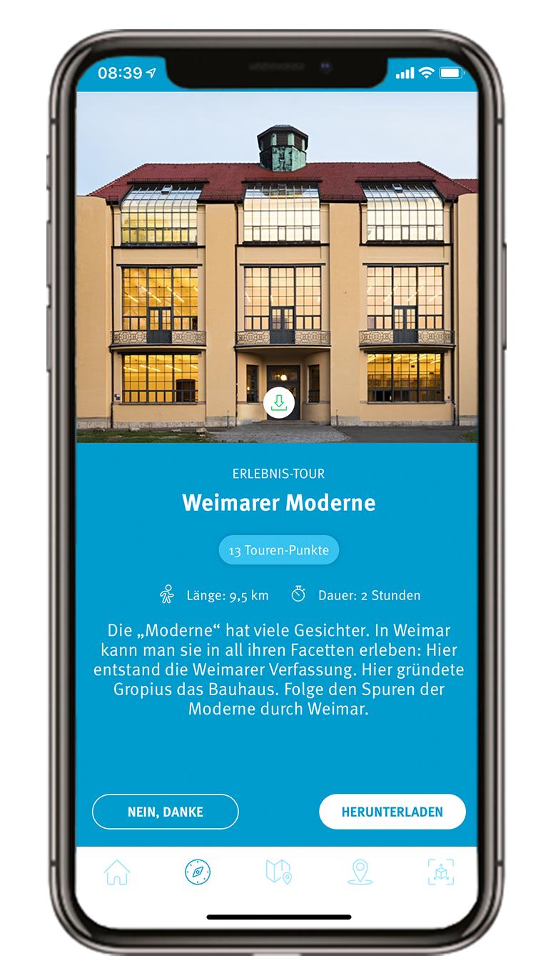 """Tourenauswahl der Erlebnistour """"Weimarer Moderne"""""""