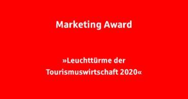 """Marketing Award """"Leuchttürme der Tourismuswirtschaft 2020"""""""