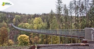 Hängeseilbrücke in der Hohen Schrecke eröffnet