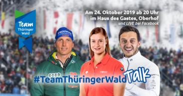 """Wintersportstars Dajana Eitberger, Sascha Benecken und Erik Lesser im exklusiven """"Team Thüringer Wald"""" Live-Talk"""