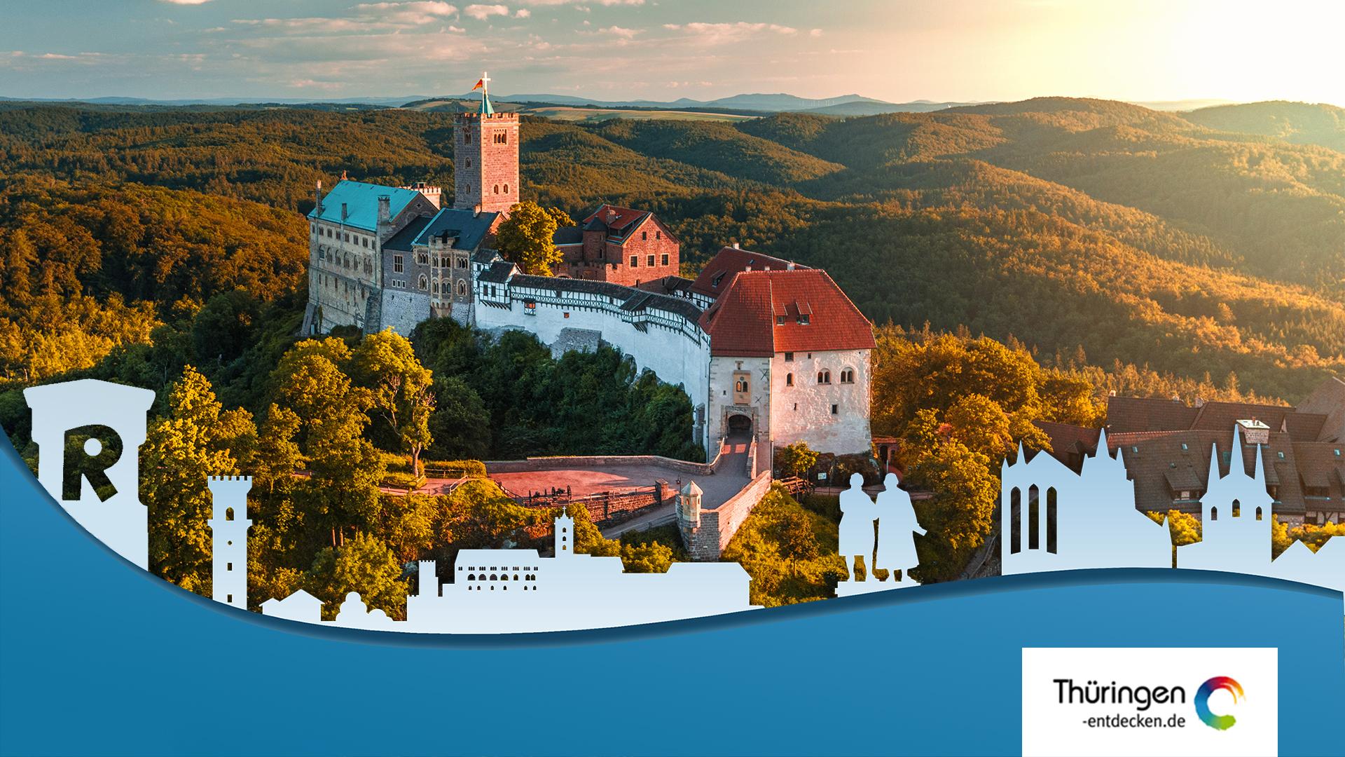 Luftaufnahme der Wartburg in Eisenach, Thumbnail youtube