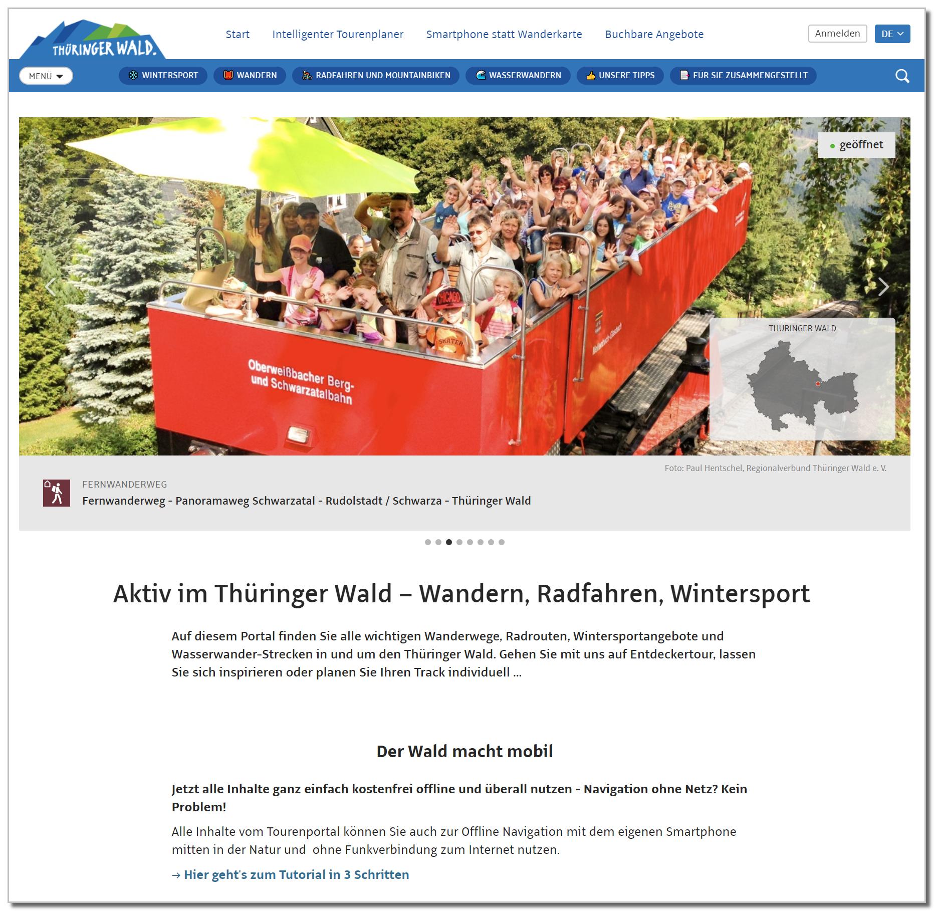 Tourenportal Thüringer Wald Web