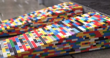 Clevere Idee: Rollstuhlrampe aus Legosteinen