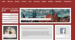screenshot Webseite Mühlhäuser Museen