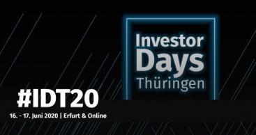 Investor Days Thüringen 2020 – Digital Edition erfolgreich beendet