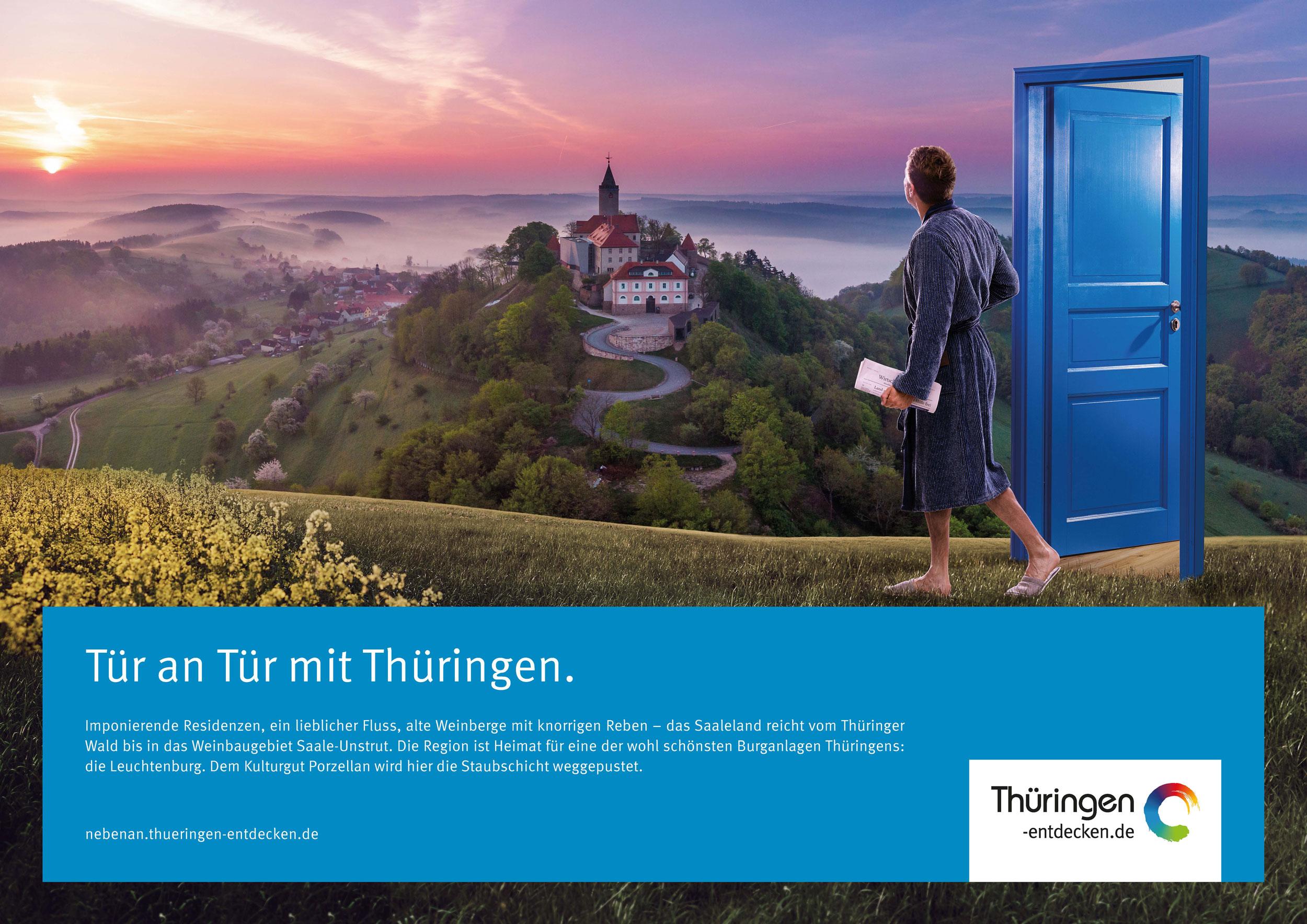 Tür an Tür mit Thüringen 18/1-Motiv Saaleland