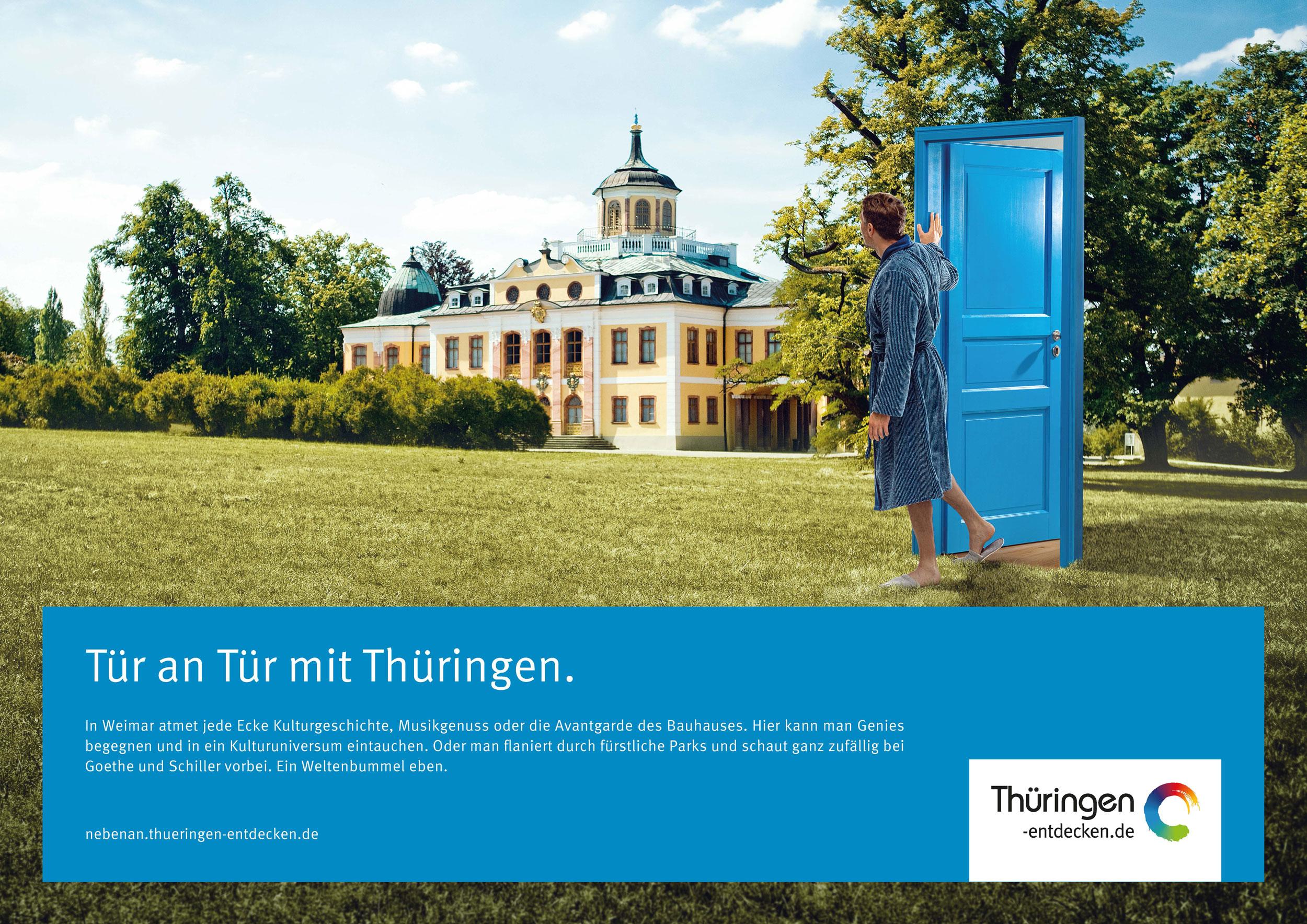 Tür an Tür mit Thüringen 18/1-Motiv Weimar