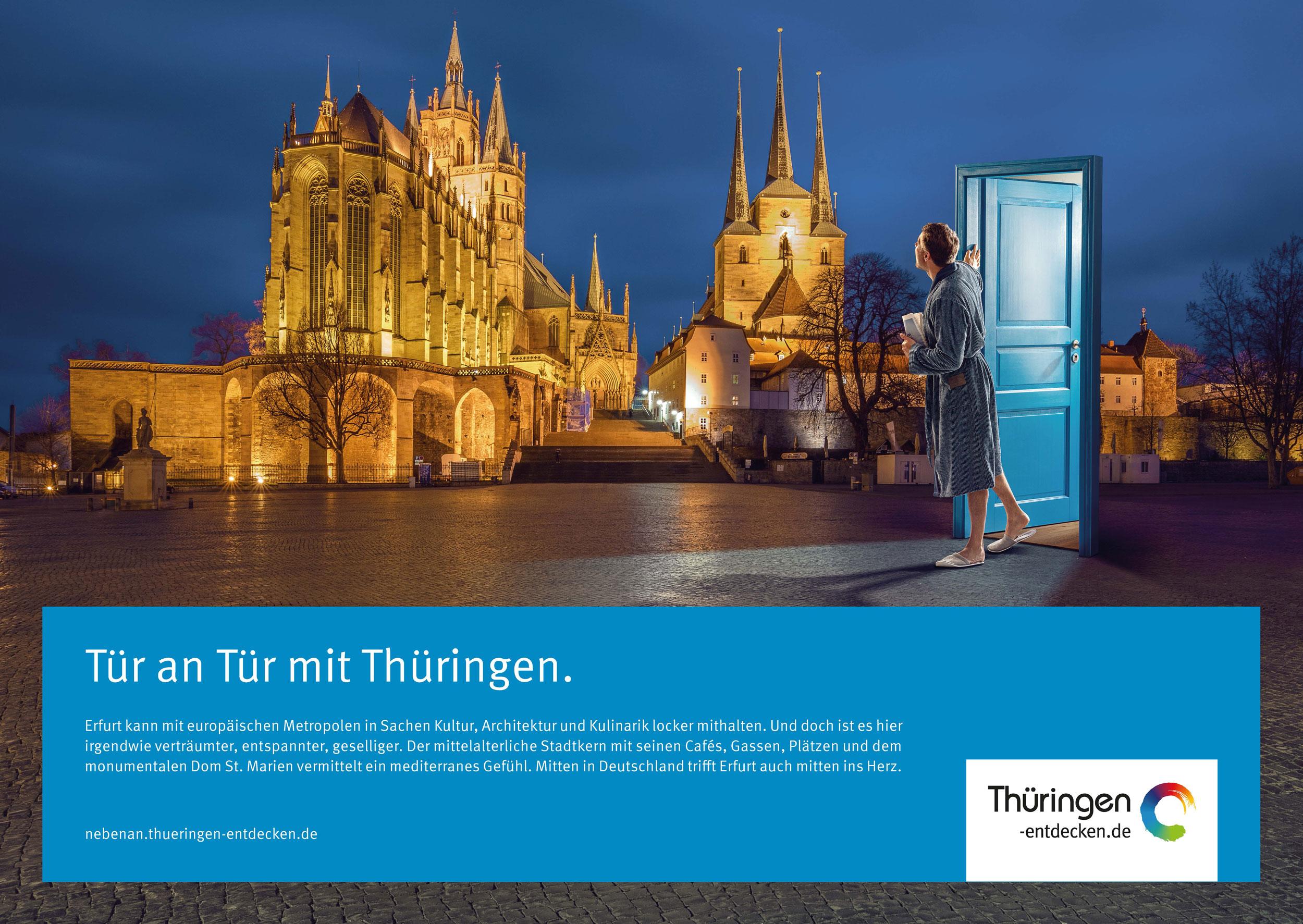 Tür an Tür mit Thüringen 18/1-Motiv Erfurt