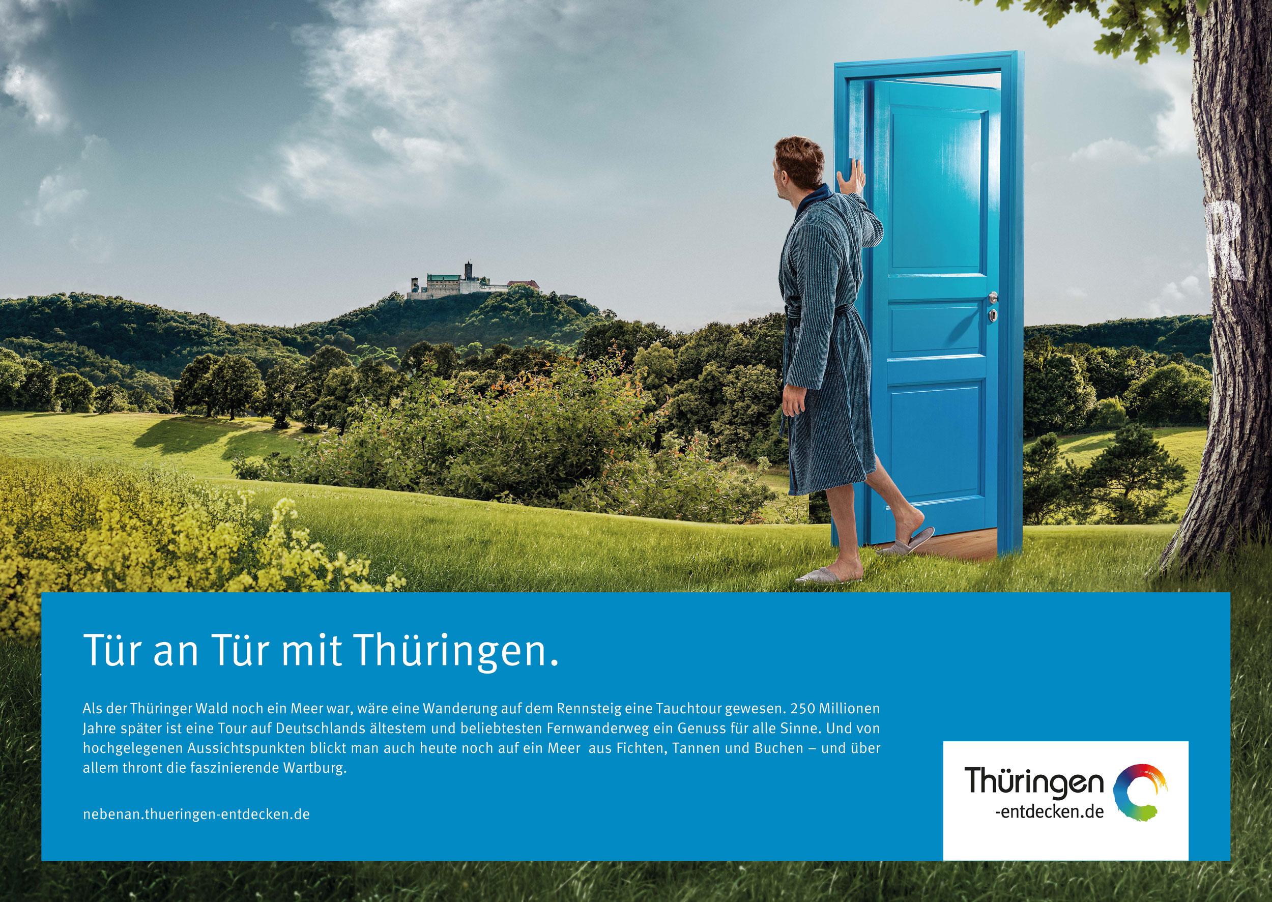 Tür an Tür mit Thüringen 18/1-Motiv Thüringer Wald