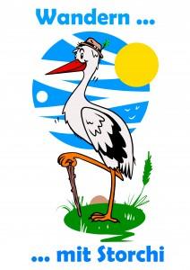 Wandern mit Storchi, Logo Storchenstieg Bad Salzungen