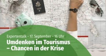 """Online-Talkrunde """"Umdenken im Tourismus – Chancen in der Krise"""""""