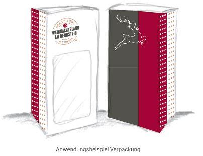 """Beispielhafte Kugelverpakung im Design vom """"Weihnachtsland am Rennsteig"""""""