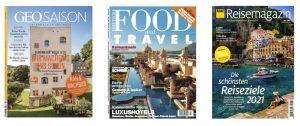 Cover GEO Saison, Food and Travel und ADAC Reisemagazin