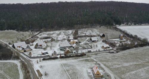 Wohnhaus Abtsbessingen im Winter
