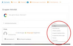 Screenshot KoRa Setzen von Filtern